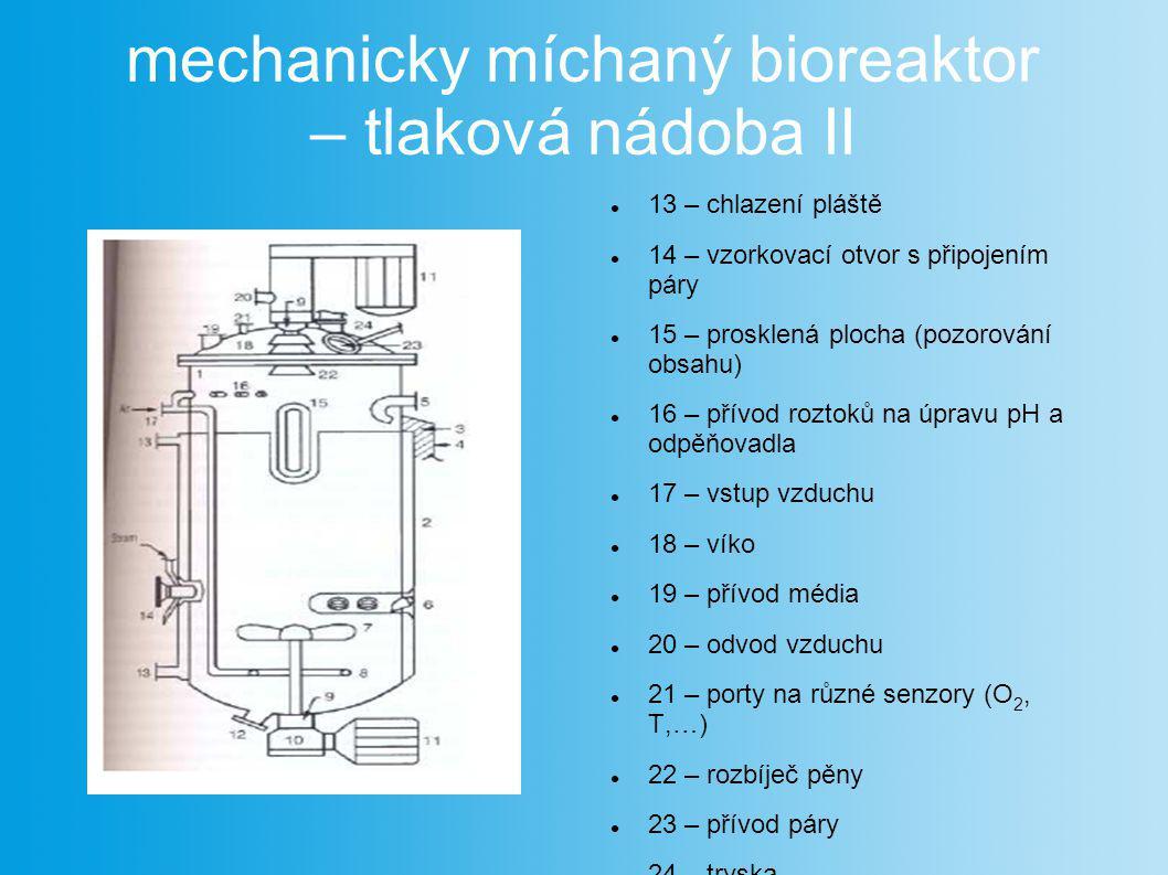 mechanicky míchaný bioreaktor – tlaková nádoba II