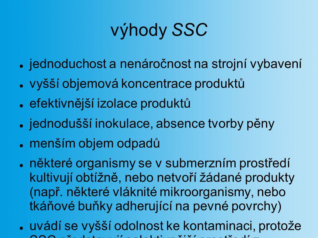 výhody SSC jednoduchost a nenáročnost na strojní vybavení