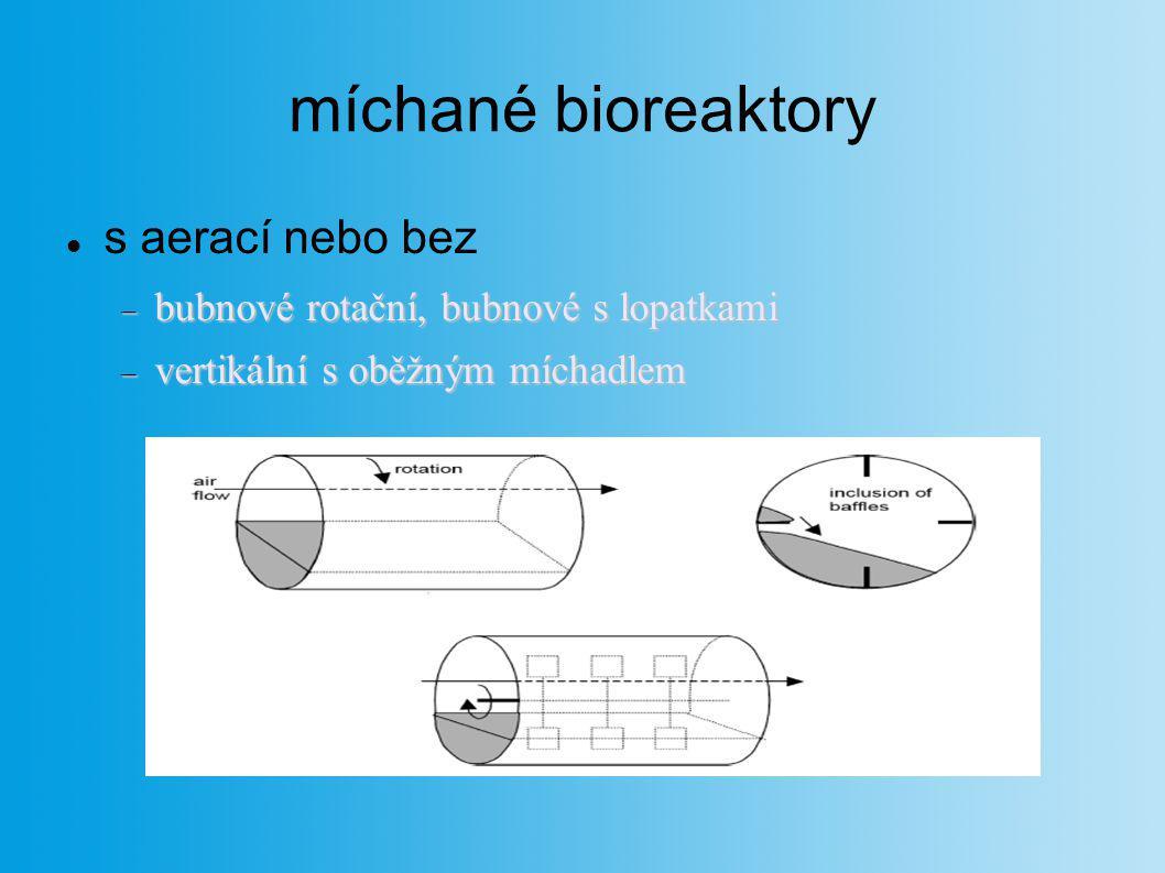 míchané bioreaktory s aerací nebo bez