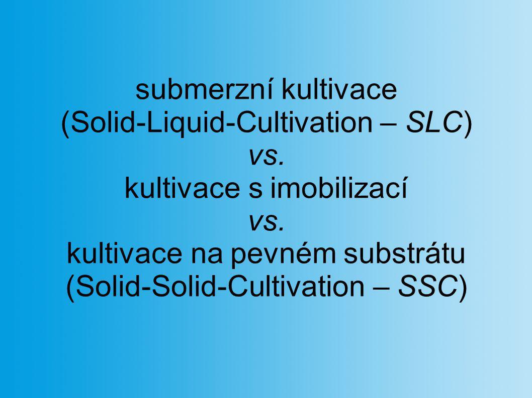 (Solid-Liquid-Cultivation – SLC) vs. kultivace s imobilizací