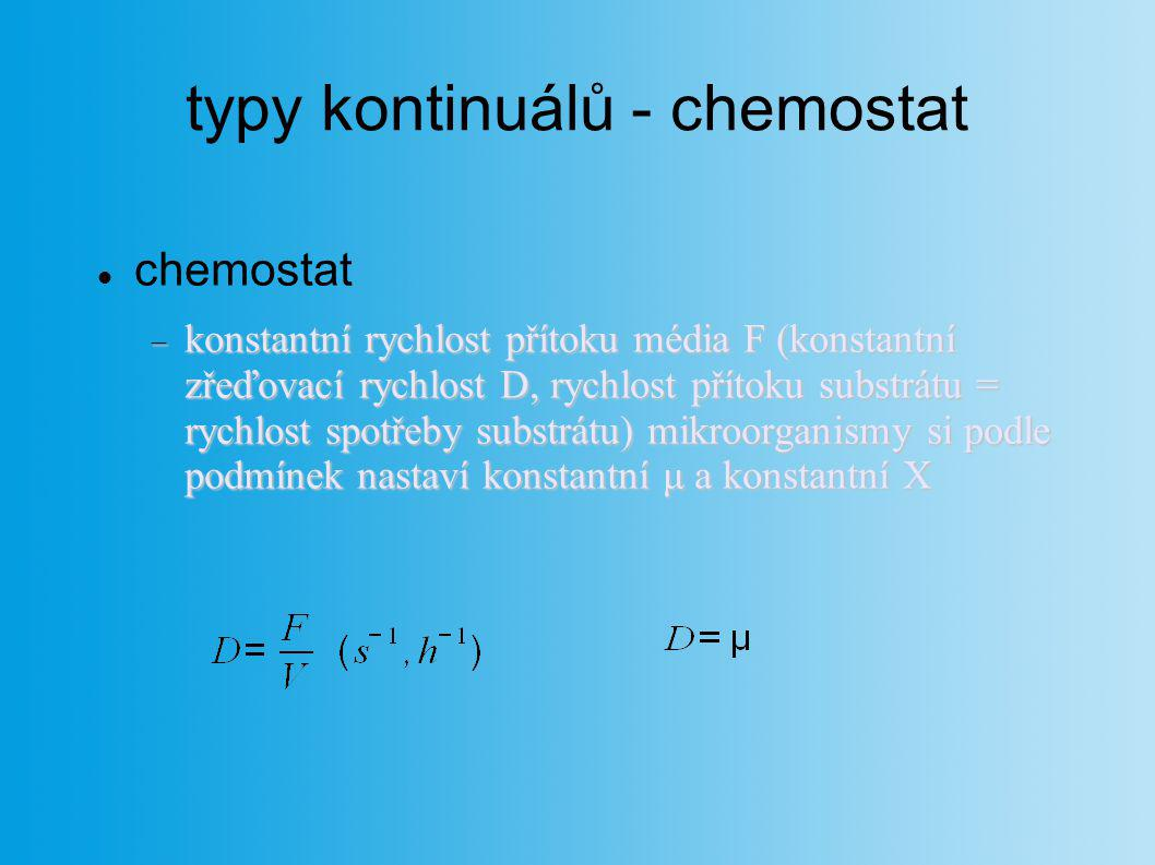 typy kontinuálů - chemostat