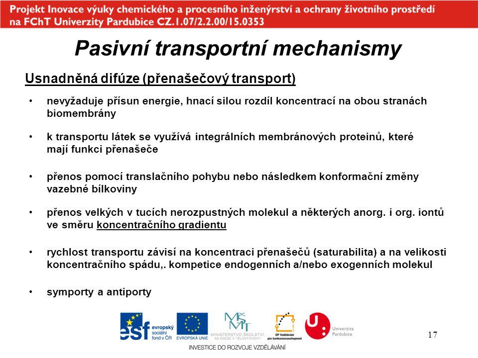 Pasivní transportní mechanismy
