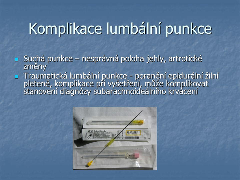 Komplikace lumbální punkce