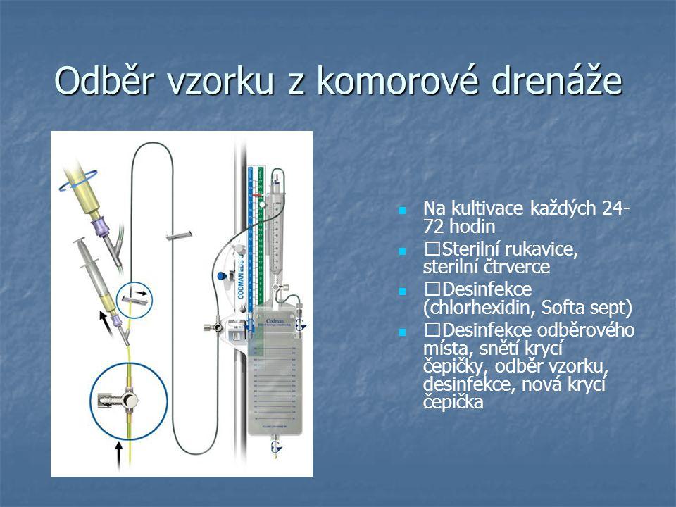 Odběr vzorku z komorové drenáže