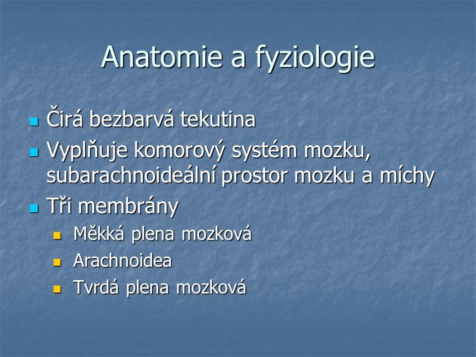 Anatomie a fyziologie Čirá bezbarvá tekutina