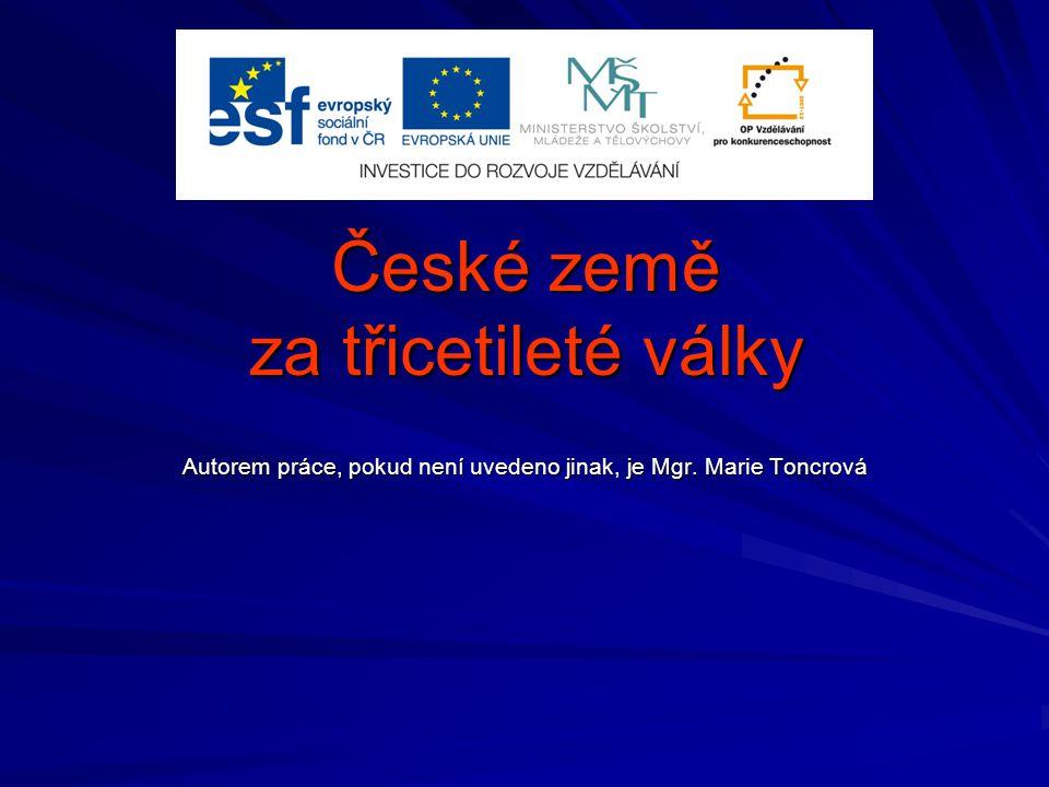 České země za třicetileté války