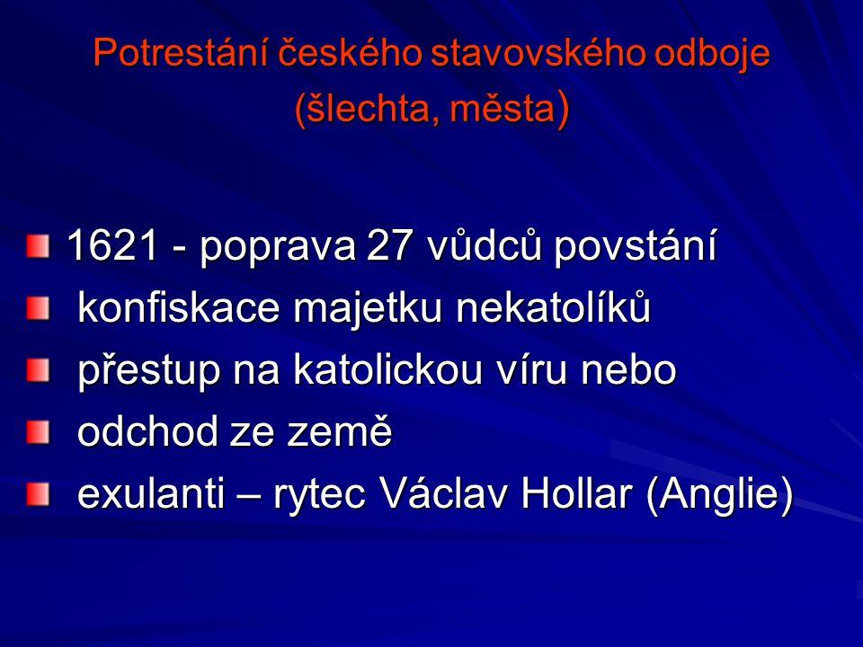 Potrestání českého stavovského odboje (šlechta, města)