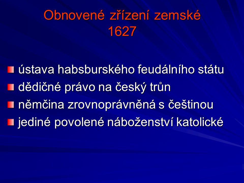 Obnovené zřízení zemské 1627