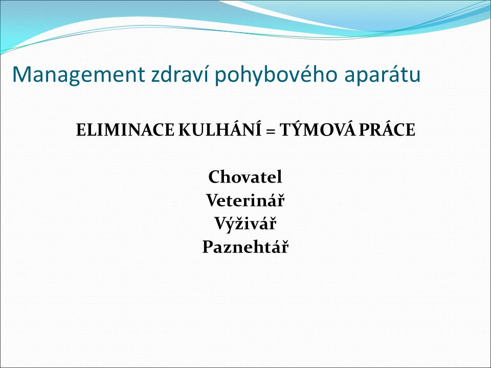 Management zdraví pohybového aparátu