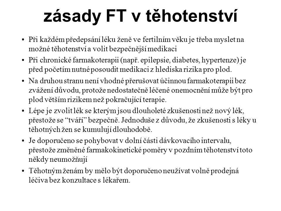 zásady FT v těhotenství