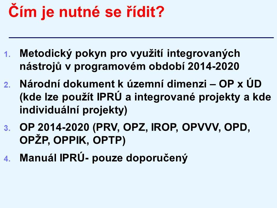 Čím je nutné se řídit Metodický pokyn pro využití integrovaných nástrojů v programovém období 2014-2020.