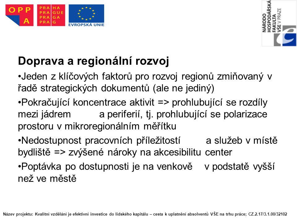 Doprava a regionální rozvoj