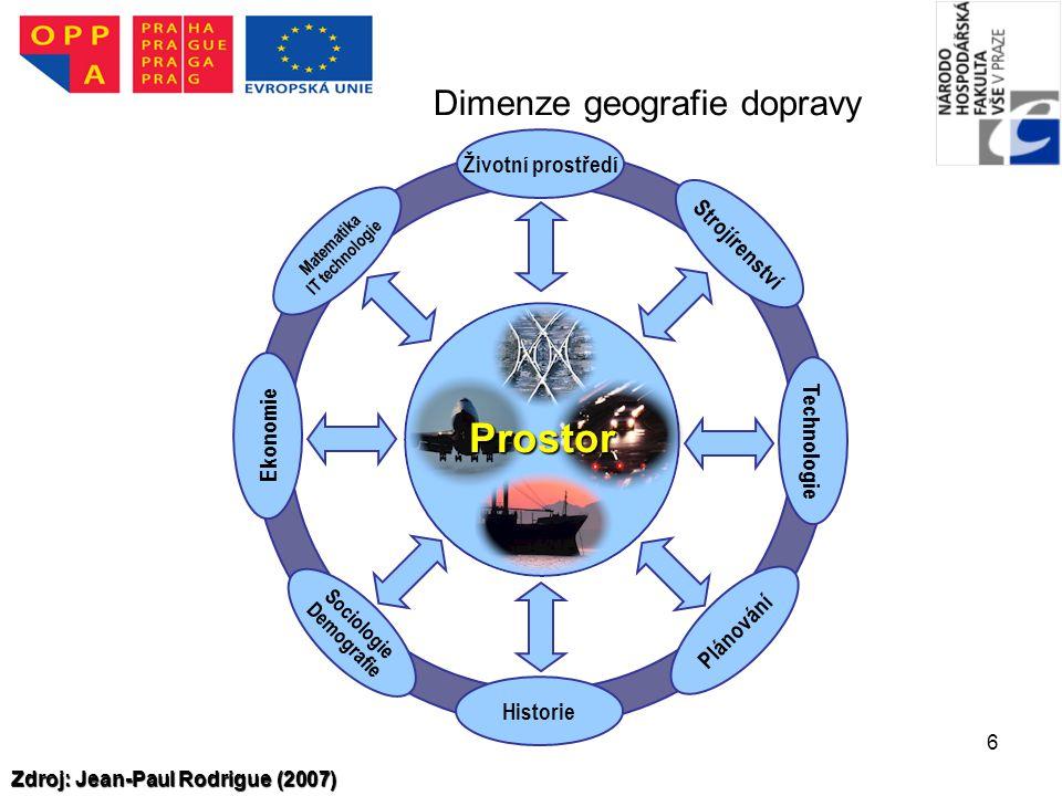 Dimenze geografie dopravy
