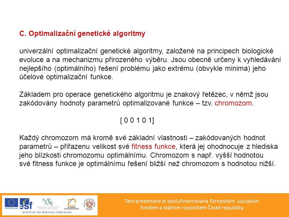 C. Optimalizační genetické algoritmy