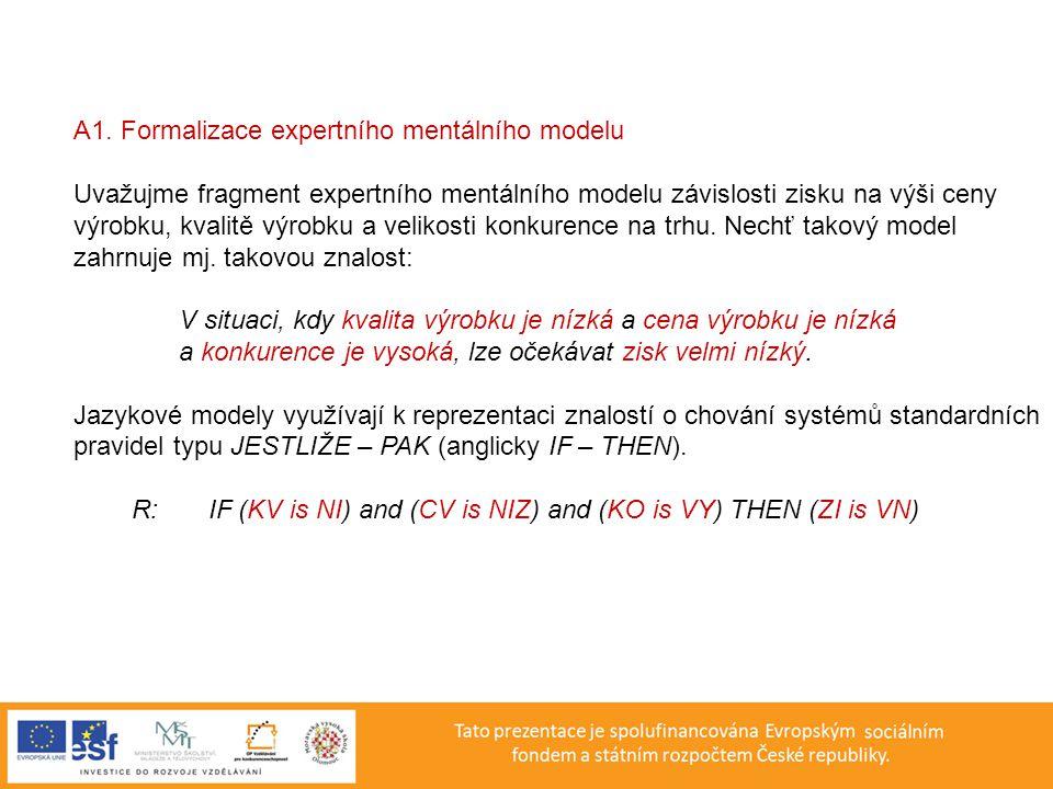 A1. Formalizace expertního mentálního modelu