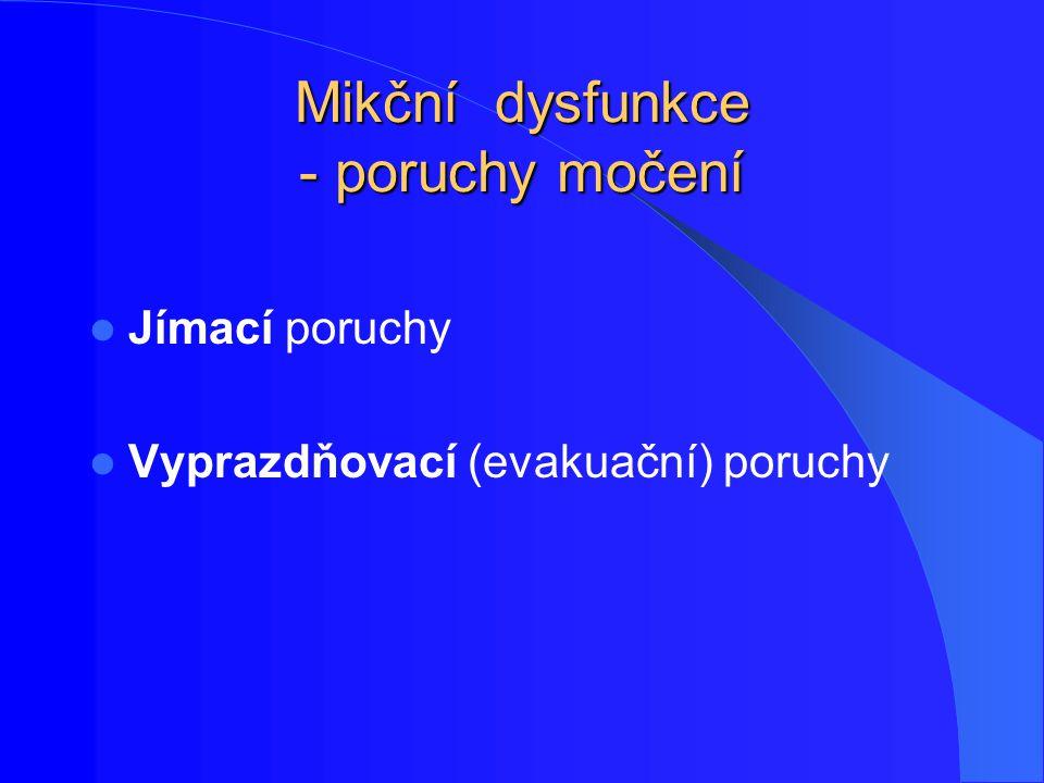 Mikční dysfunkce - poruchy močení