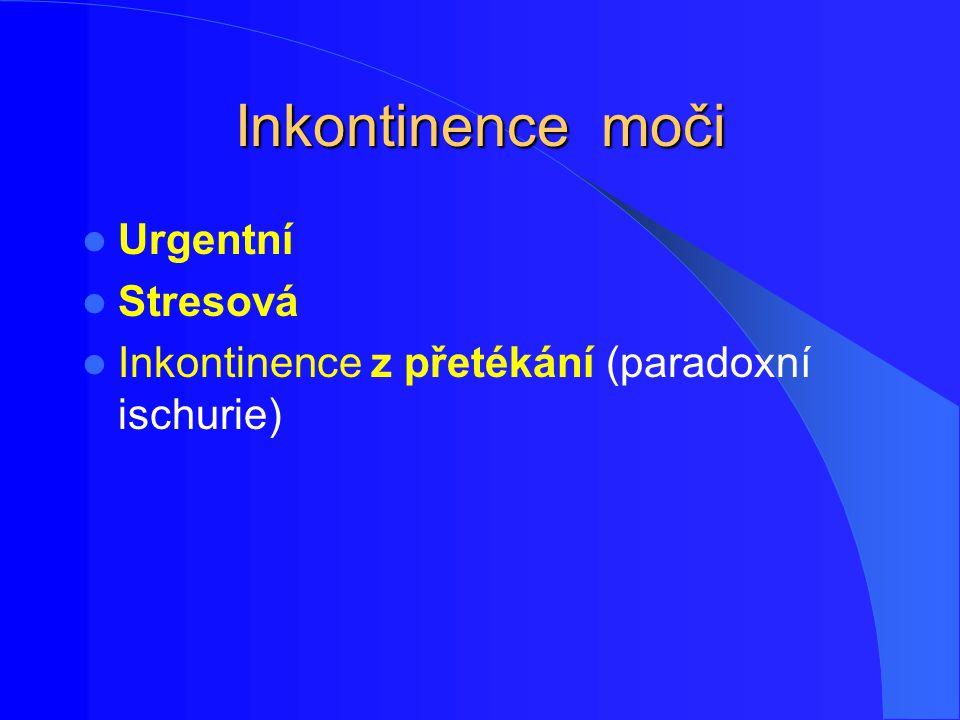 Inkontinence moči Urgentní Stresová