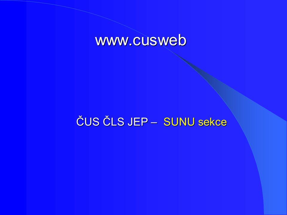 www.cusweb ČUS ČLS JEP – SUNU sekce