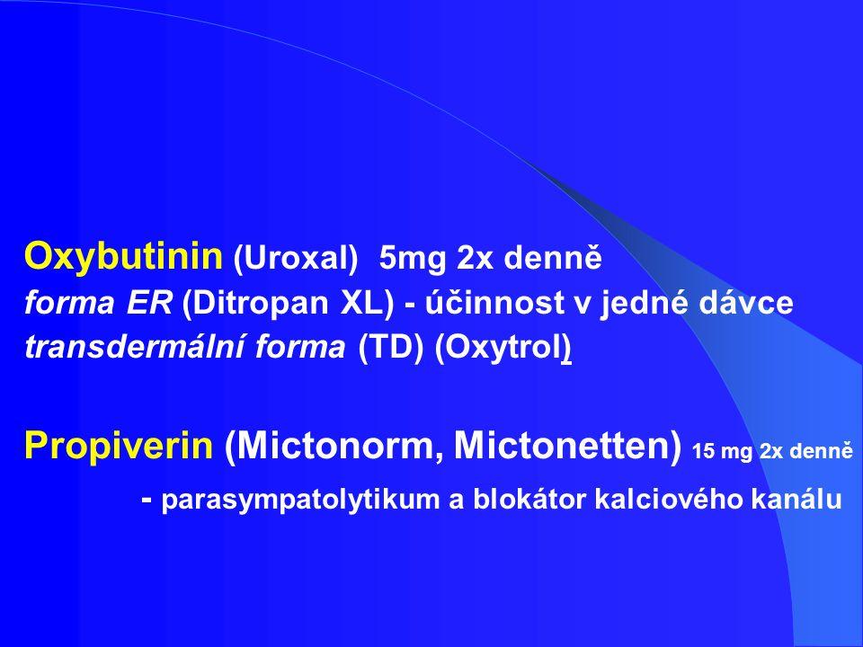 Oxybutinin (Uroxal) 5mg 2x denně