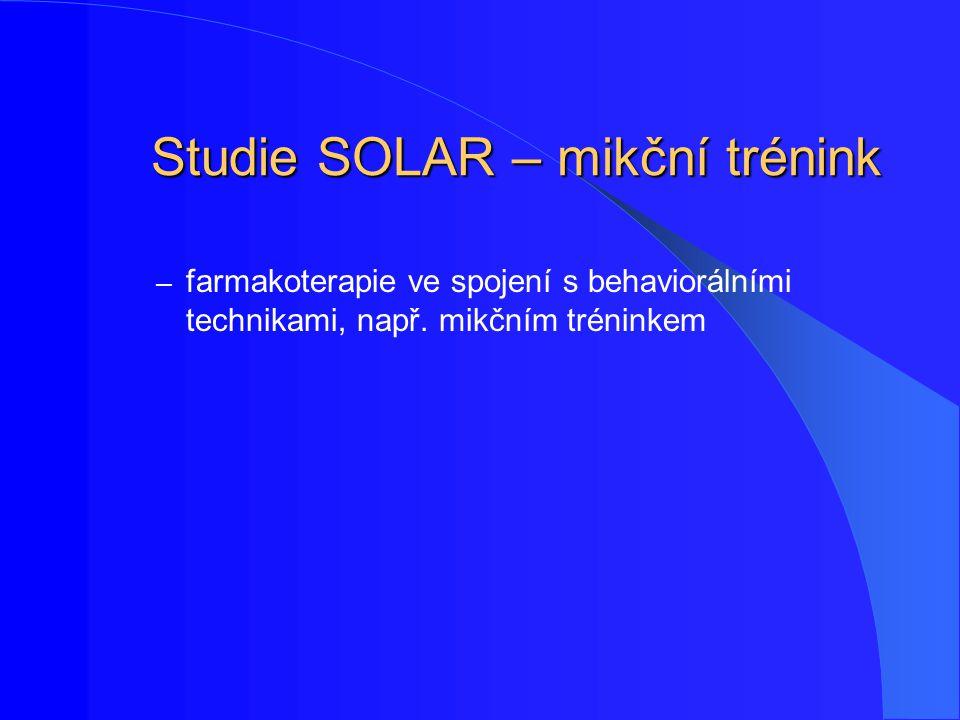 Studie SOLAR – mikční trénink