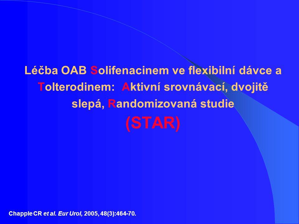 Léčba OAB Solifenacinem ve flexibilní dávce a Tolterodinem: Aktivní srovnávací, dvojitě slepá, Randomizovaná studie