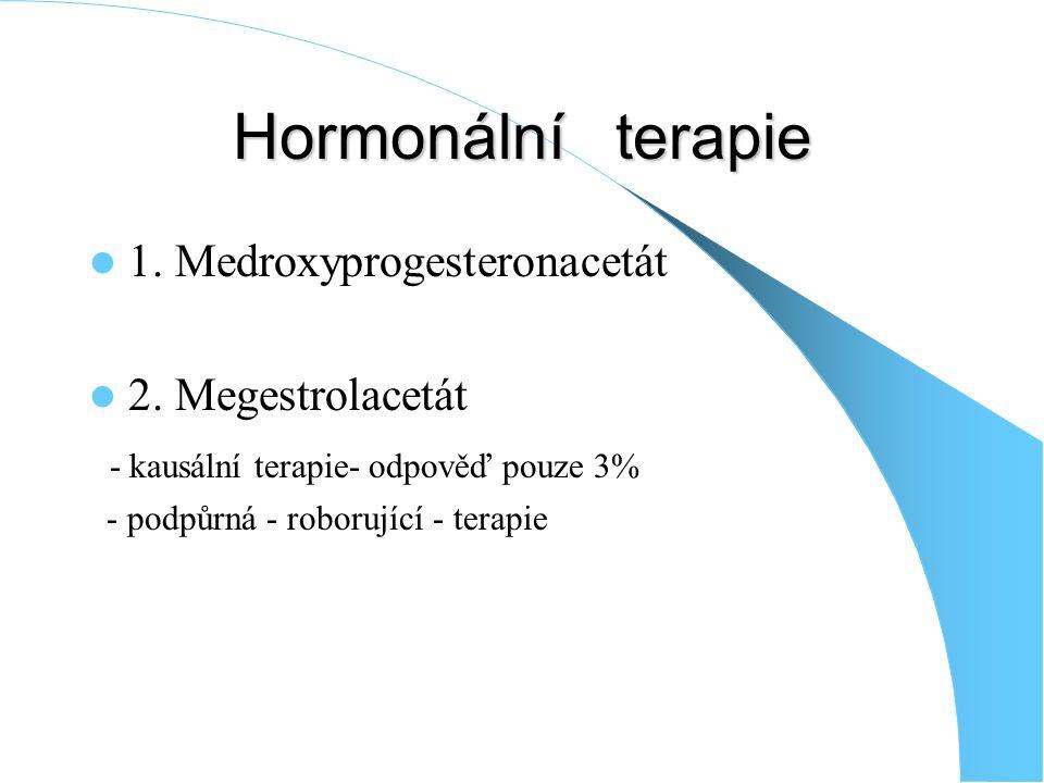 Hormonální terapie 1. Medroxyprogesteronacetát 2. Megestrolacetát