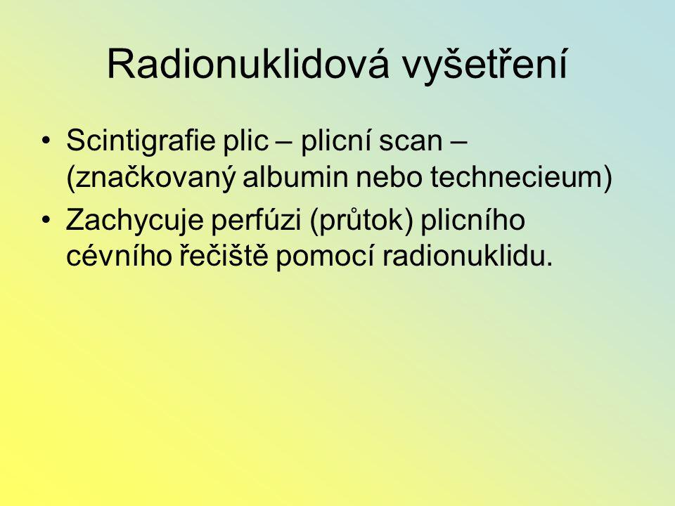 Radionuklidová vyšetření
