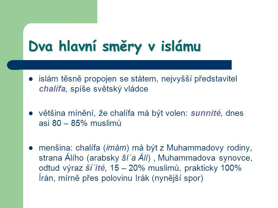 Dva hlavní směry v islámu