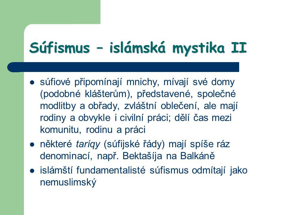 Súfismus – islámská mystika II