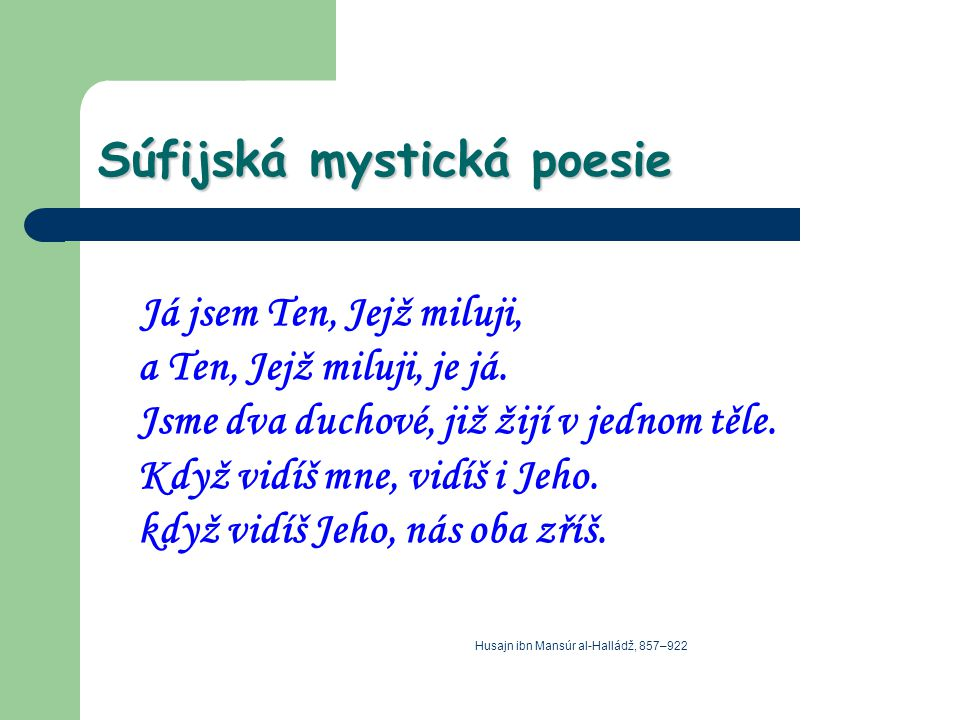 Súfijská mystická poesie