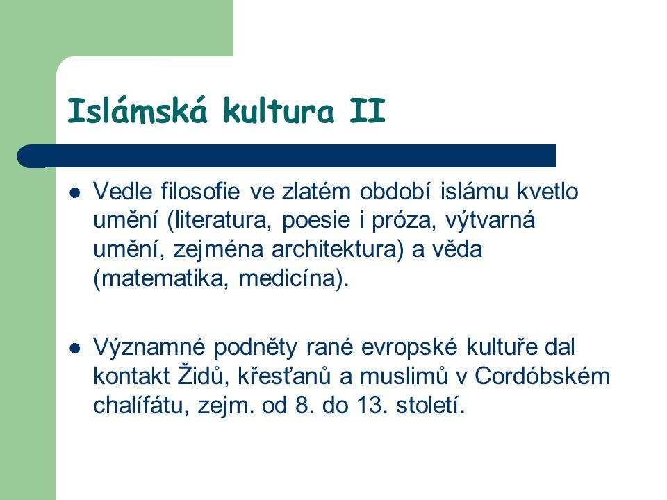 Islámská kultura II