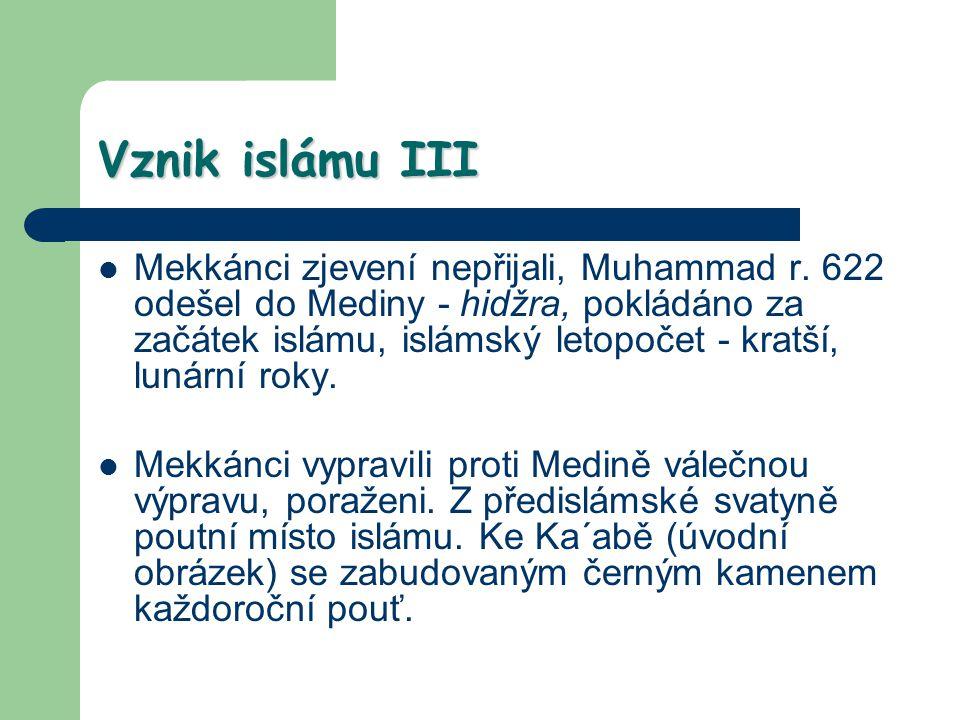 Vznik islámu III