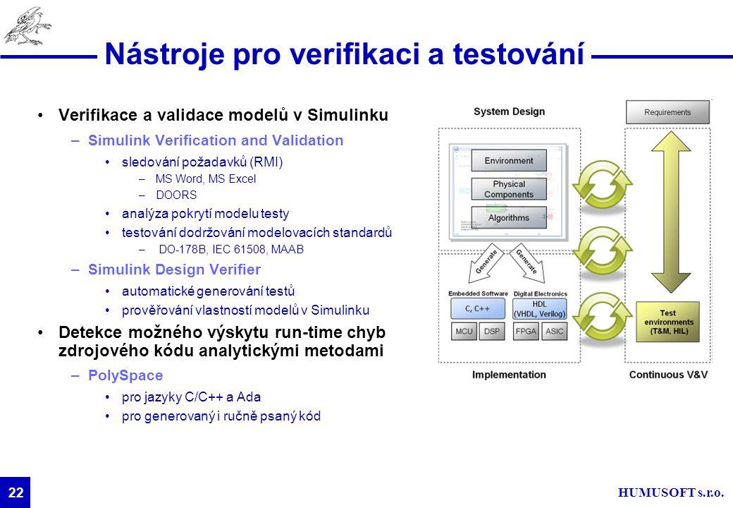 Nástroje pro verifikaci a testování
