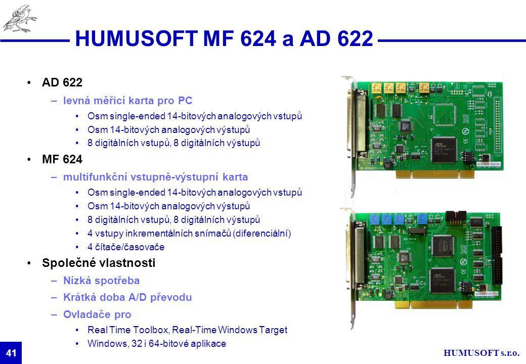 HUMUSOFT MF 624 a AD 622 AD 622 MF 624 Společné vlastnosti