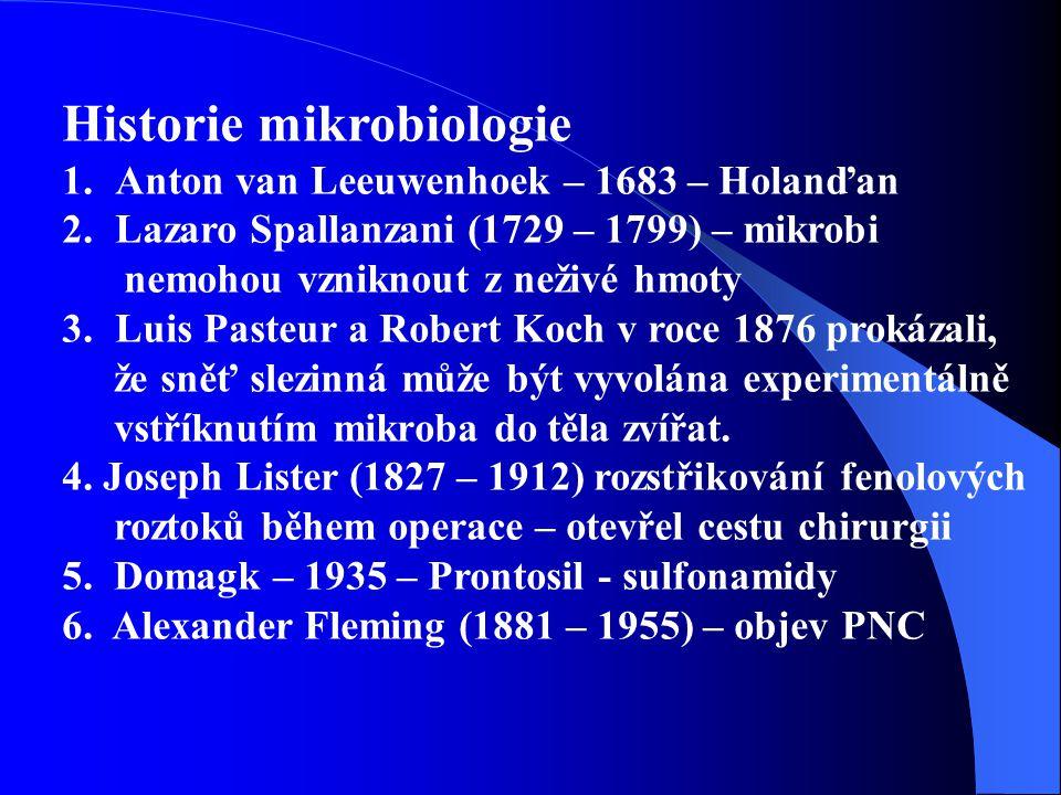 Historie mikrobiologie