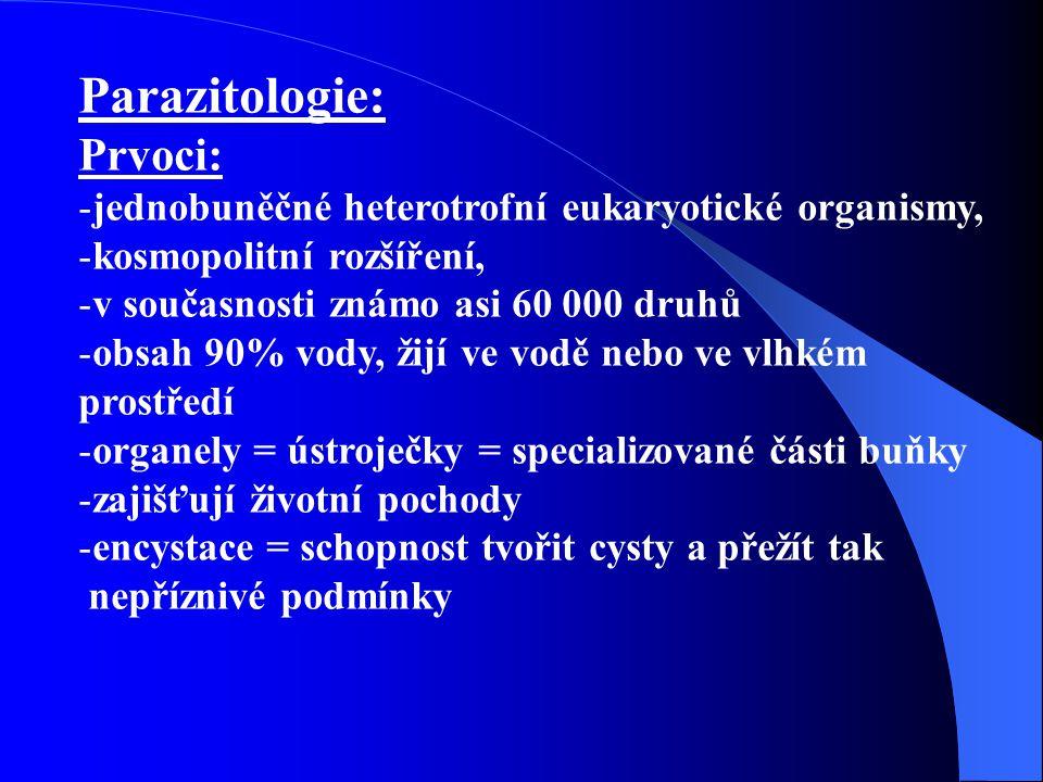 Parazitologie: Prvoci:
