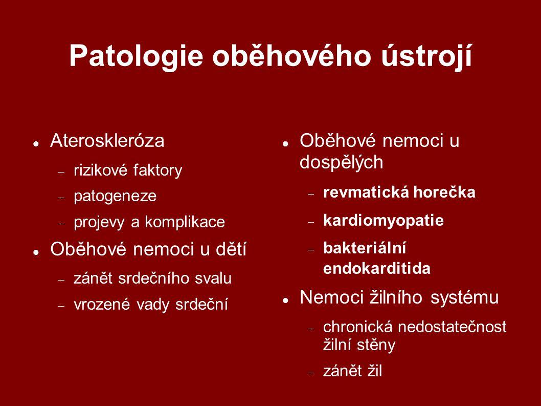 Patologie oběhového ústrojí