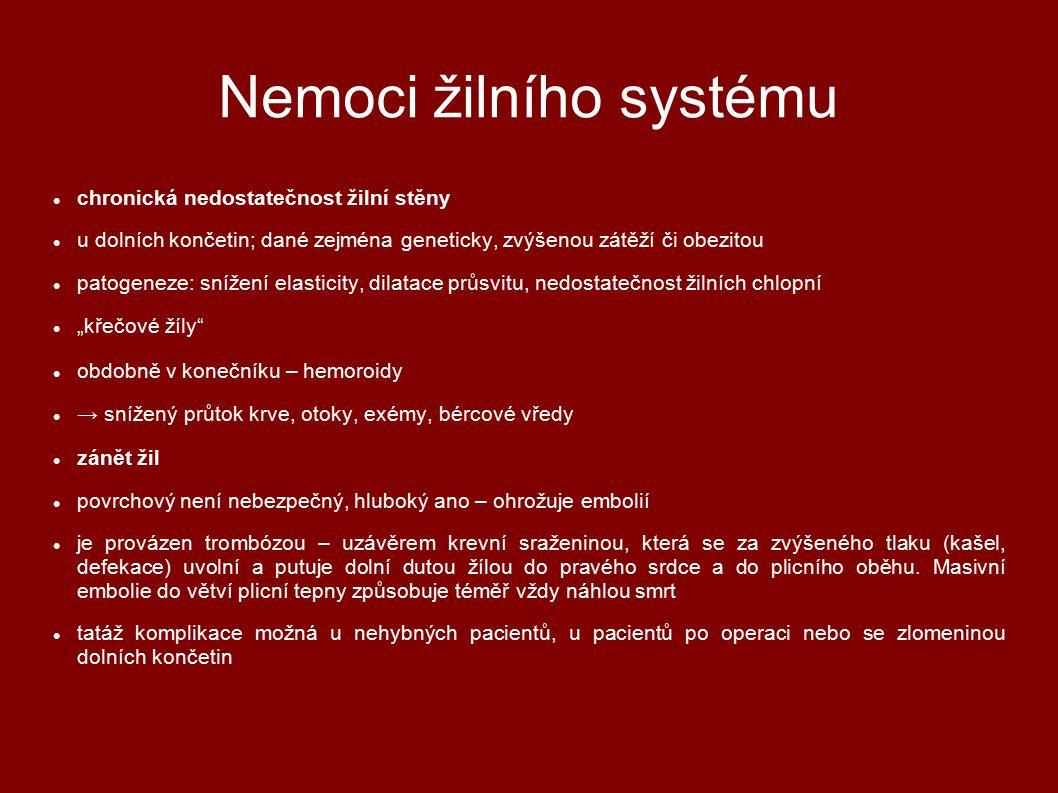 Nemoci žilního systému