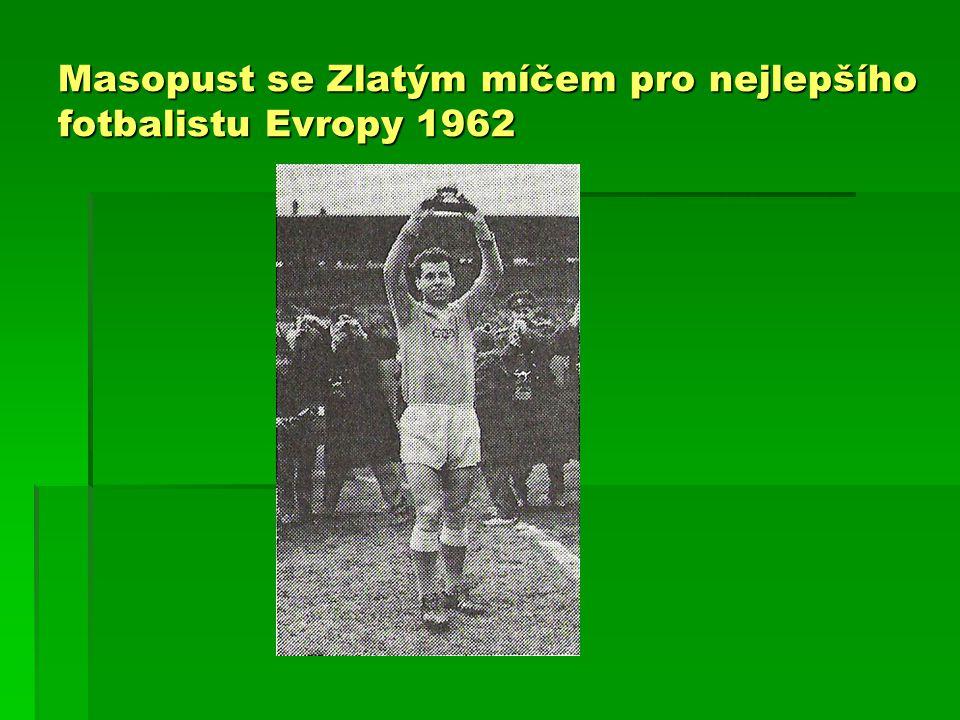 Masopust se Zlatým míčem pro nejlepšího fotbalistu Evropy 1962