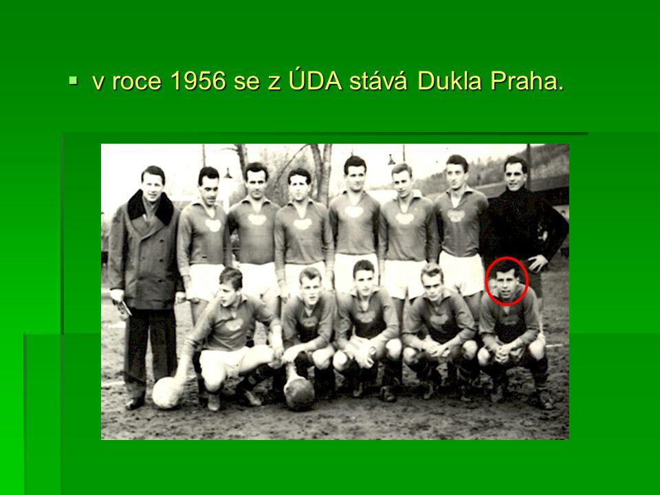v roce 1956 se z ÚDA stává Dukla Praha.