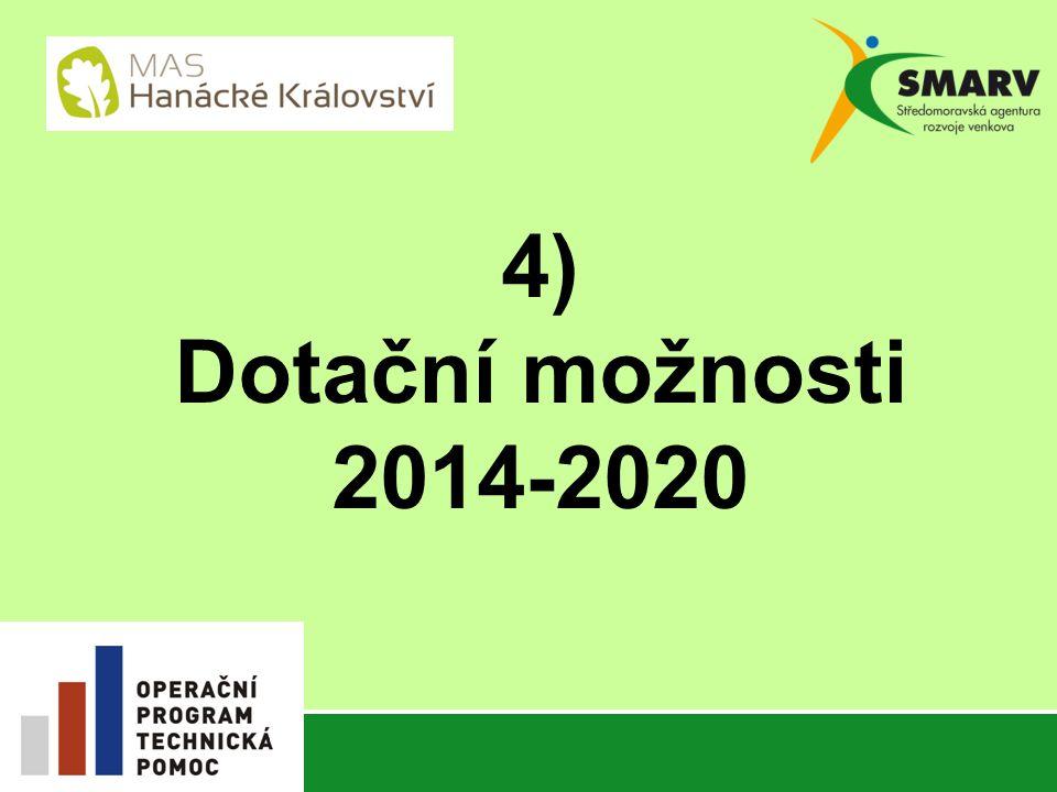 4) Dotační možnosti 2014-2020