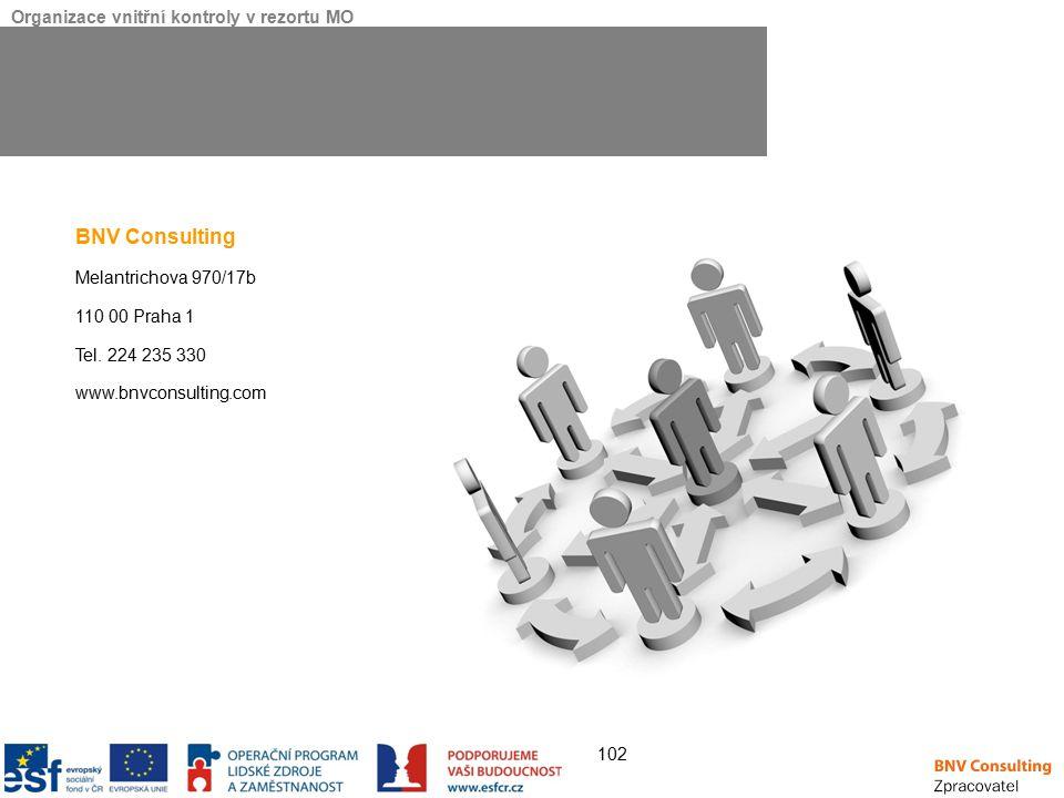 BNV Consulting Melantrichova 970/17b 110 00 Praha 1 Tel. 224 235 330