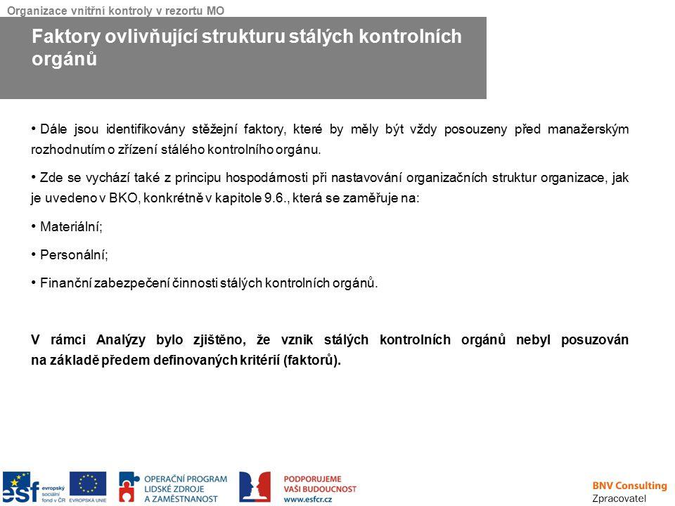 Faktory ovlivňující strukturu stálých kontrolních orgánů