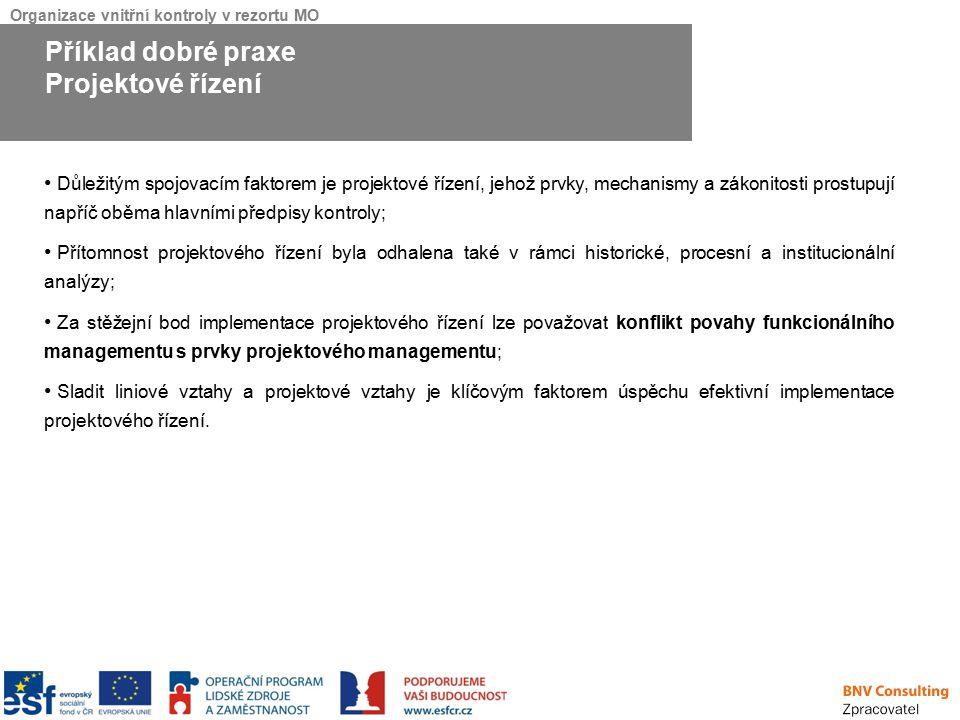 Příklad dobré praxe Projektové řízení