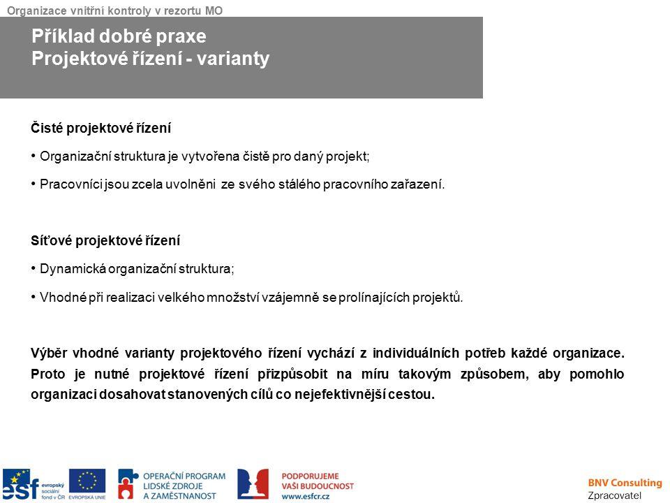 Projektové řízení - varianty