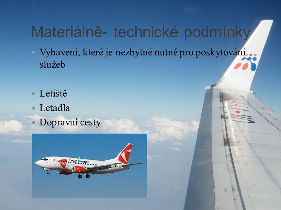 Materiálně- technické podmínky