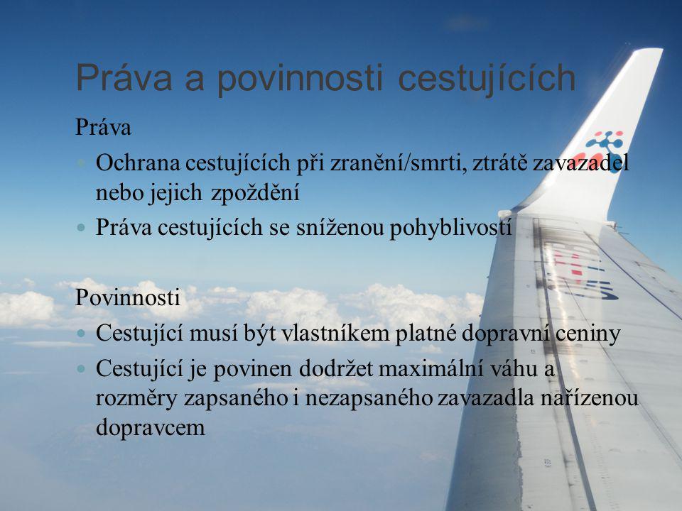 Práva a povinnosti cestujících