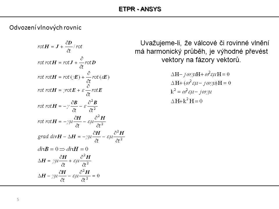 Odvození vlnových rovnic