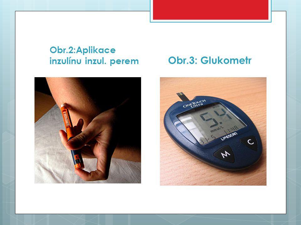 Obr.2:Aplikace inzulínu inzul. perem