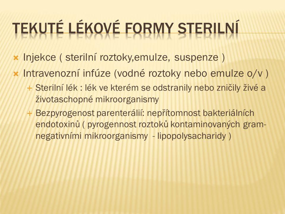 Tekuté lékové formy sterilní